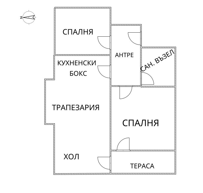 Тристаен апартамент, 95 м2