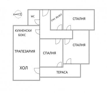 4- стаен апартамент, 135 м2